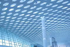 Metal and glass roof. Of a mall Royalty Free Stock Image