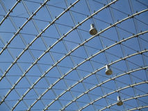 Metal and glass structure Stock Images