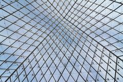 Metal and Glass Structure. Against blue sky Stock Image