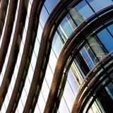 Metal and glass windows of a building Royalty Free Stock Image