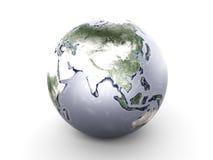 Metal Globe - Asia Stock Image
