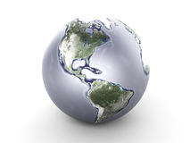 Metal Globe - North America Royalty Free Stock Photography
