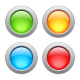Metal glossy buttons Stock Photo