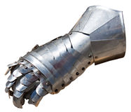 Armor glove. A metal glove, a small piece from a medieval armor Royalty Free Stock Photos
