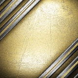 Metal on gold Stock Image