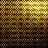 Metal gold grid Stock Photos