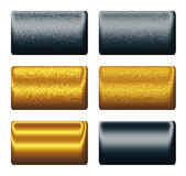 Metal gold navy blue boards, backgrounds to design Stock Photos