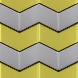 Metal with gold surface of steel arrow blocks seamless backgroun Royalty Free Stock Image