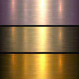 Metal gold texture background Royalty Free Stock Images