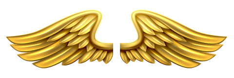 Metal Gold Wings Royalty Free Stock Images