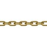 Metal golden chain 3D. Vector illustration. Stock Photography