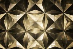 Metal golden wall Stock Photo