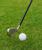 Metal golf driver Royalty Free Stock Photos