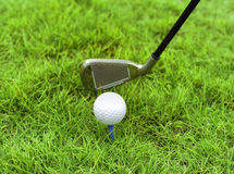 Metal golf driver Stock Photo