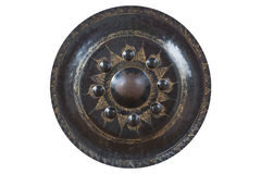 Metal Gong Isolated Royalty Free Stock Photo