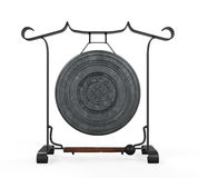 Metal Gong Isolated Royalty Free Stock Image