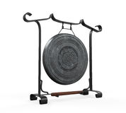 Metal Gong Isolated Stock Photography