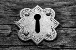 Metal Gothic Keyhole Royalty Free Stock Images
