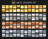 Metal gradient collection Royalty Free Stock Images