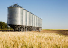 Metal Grain Bin Stock Photos