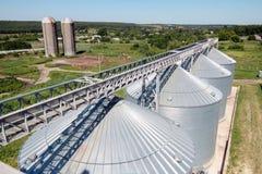 Metal grain bins Royalty Free Stock Image