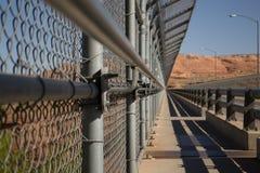 Metal granicy płotowi zapobiega skrzyżowania i wzrastający bezpieczeństwo zdjęcia royalty free