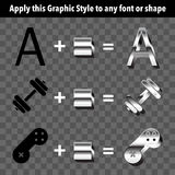 Metal Graphic Style Stock Images