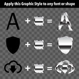 Metal Graphic Style Royalty Free Stock Photography
