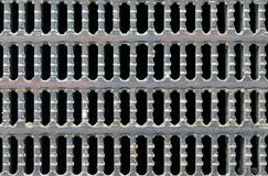 Metal grate background with grill pattern Royalty Free Stock Photography