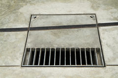 Metal grate drain Royalty Free Stock Photos