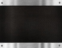 Metal grate frame background Stock Photography