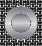 Metal grate with a metal plate Royalty Free Stock Image