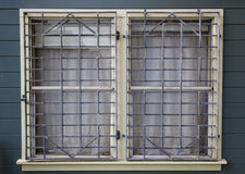 Metal Grated Windows Royalty Free Stock Photo