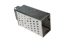 Metal Grater. Old Fasion Metal Grater Isolated on White Background Royalty Free Stock Images