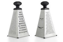 Metal Grater. Four sides of a metal grater royalty free stock image