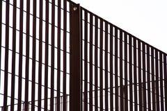 Metal grating, metal fence stock image