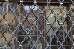 Metal grating on the window. Metal grating / Metal grating on the window royalty free stock image