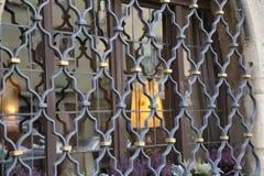 Metal grating on the window. Metal grating / Metal grating on the window stock photography