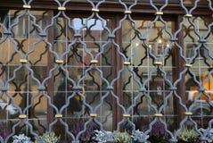 Metal grating on the window. Metal grating / Metal grating on the window stock images
