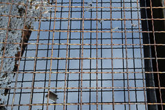 The metal gratings are ready to clean the metal Royalty Free Stock Image