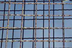 The metal gratings Stock Photo