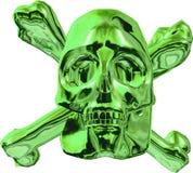 Metal green floor. Metallic green isolated shiny skull royalty free illustration