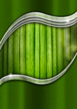 Metal and Green Organic Background Stock Photos