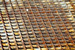 Metal Grid. Old, rusty metal grid closeup Stock Images