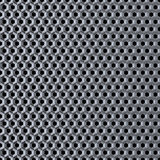 Metal grid. Polished metal grid with round honeycombs. Abstract image Stock Photo