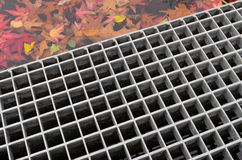 Metal grid stock image