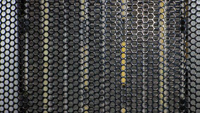 A metal grid. Stock Image