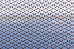 Metal grid as decorative or protective fence Stock Photography