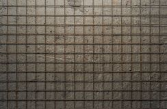 Metal grid on the background of a gray concrete wall. Metal rust grid on the background of a gray concrete wall Stock Photos