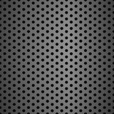Metal grid background with holes. Grey metallic background seamless pattern steel realistic grid microphone texture royalty free illustration